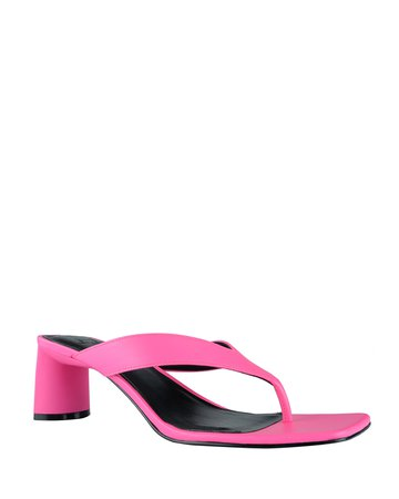 Marc Fisher LTD Cadence Leather Thong Sandals   Neiman Marcus