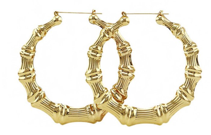 gold bamboo hoops
