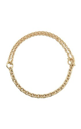 Double Necklace Polished Vermeil By All Blues   Moda Operandi