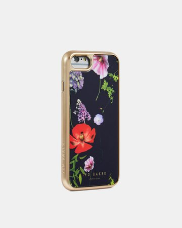 Hedgerow iPhone 7/8 clip case - Dark Blue | Gifts For Her | Ted Baker UK GBP31