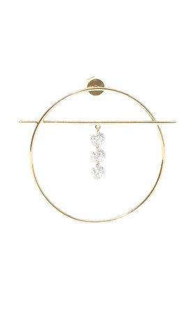 18k Yellow Gold Fibule Diamonds Earrings By Persée | Moda Operandi