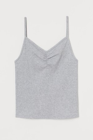 Ribbed Tank Top - Gray