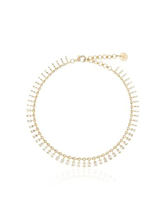 SHAY 18kt Yellow Gold And Diamond Dot Dash Necklace - Farfetch