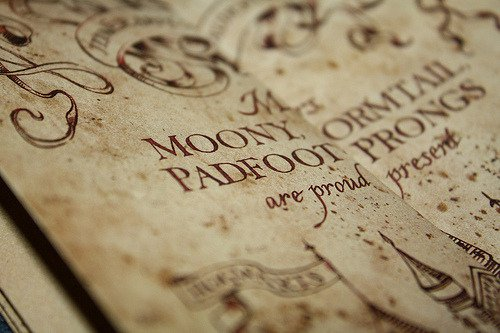marauders map | Harry Potter