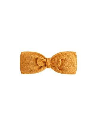 MANGO Ruched bikini top