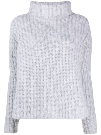 Kiton cable-knit roll neck jumper
