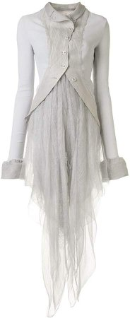 Marc Le Bihan Tulle-Panelled Coat