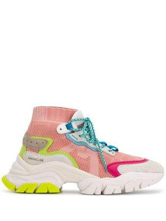 Moncler Mesh Panel hi-top Sneakers - Farfetch