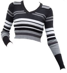 striped crop sweater png
