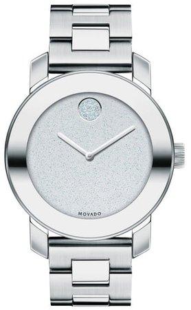 Bold Crystal Marker Bracelet Watch, 36mm