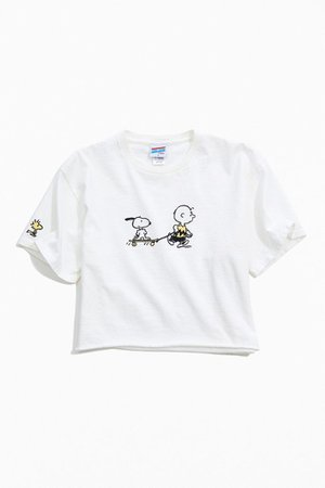 Junk Food Little Peanuts Cropped Tee   Urban Outfitters