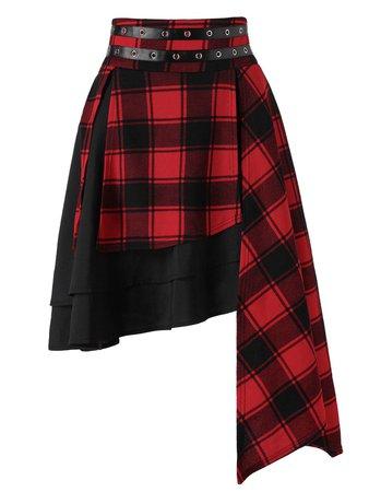 Gothic Plaid Skirt