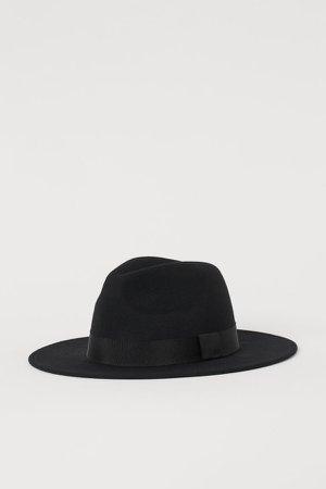 Felted Wool Hat - Black