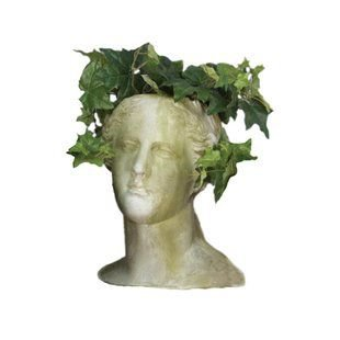 green png filler statue head white