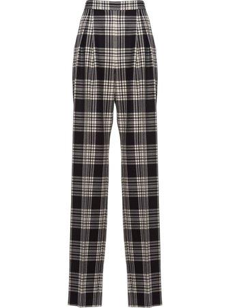 Miu Miu tartan-print Wool Trousers