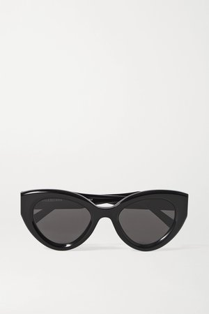 Black Cat-eye acetate sunglasses | Balenciaga | NET-A-PORTER
