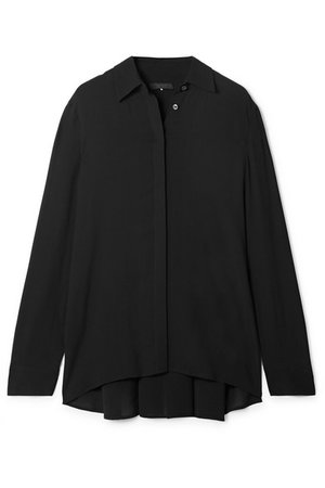 The Row | Carla pleated chiffon blouse | NET-A-PORTER.COM