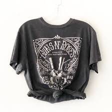 grunge tshirt crop guns and roses distressed - Google Search