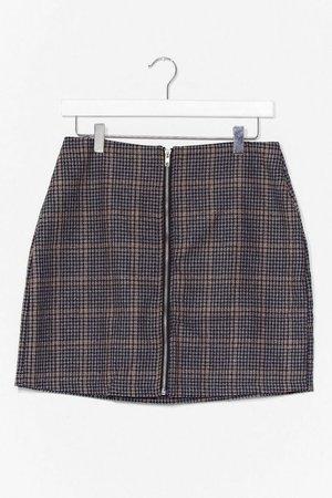 check zip through mini skirt   Nasty Gal