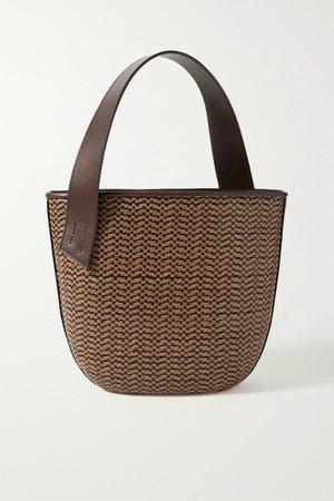 Brown Panier Saigon woven leather shoulder bag | TL-180 | NET-A-PORTER