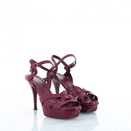 Tribute Purple Leather Sandals