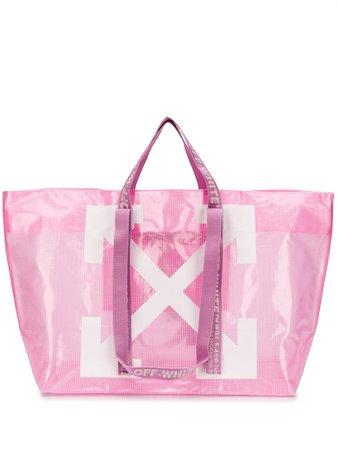 Off-White tote-väska Med Pilmotiv - Farfetch