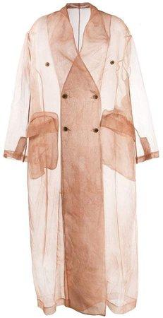 Uma Wang Caspian sheer trench coat