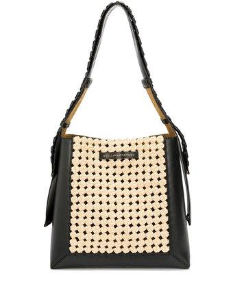 Shop brown & black Stella McCartney panelled shoulder bag with Express Delivery - Farfetch