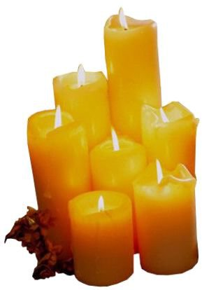 yellow candle filler png