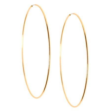 Gold 60MM Sleek Hoop Earrings | Claire's US