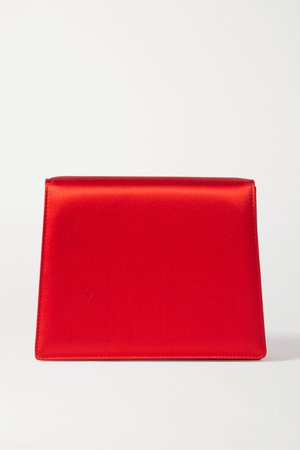 Red Satin clutch   Emilia Wickstead   NET-A-PORTER