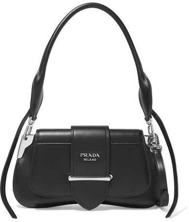 Sidonie Leather Shoulder Bag - Black