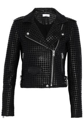 Eyelet-embellished leather biker jacket | IRO