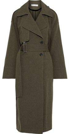 Oversized Gabardine Trench Coat