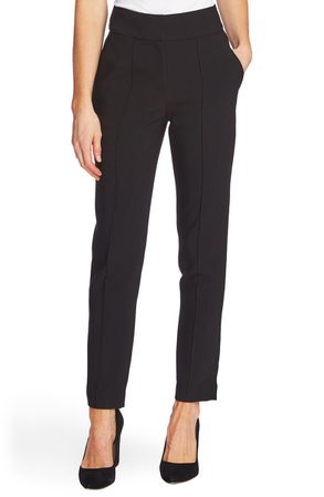Vince Camuto Pintuck Stretch Crepe Skinny Pants | Nordstrom