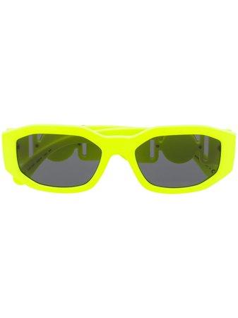 Versace Eyewear Lunettes De Soleil à Monture Ovale - Farfetch