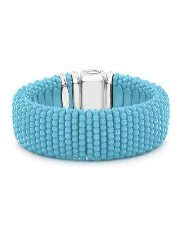 Lagos Blue Caviar Ceramic Bracelet, 23mm | Neiman Marcus