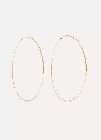 Gold Infinity 10-karat gold hoop earrings | Loren Stewart | NET-A-PORTER