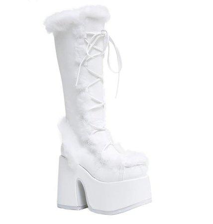 Demonia Pure Vigilance Platform Boots | Dolls Kill