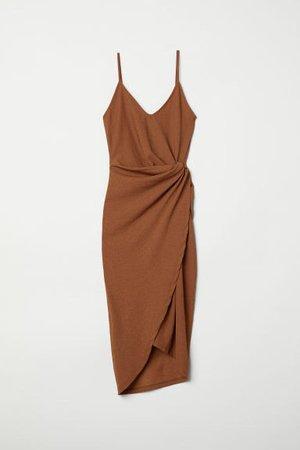 Draped Wrap-front Dress