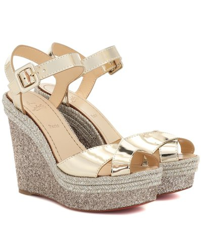 Almeria 120 leather wedge sandals