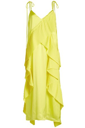 Midi Dress with Pleats Gr. FR 38