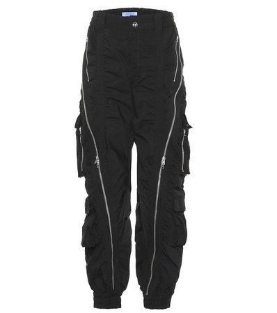 Cotton-blend cargo pants