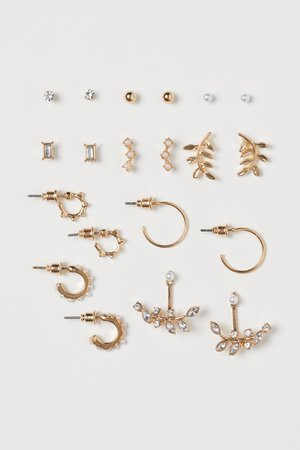 10 Pairs Earrings - Gold-colored - Ladies | H&M US