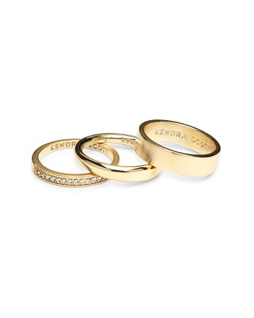 Tate Midi Ring Set in Gold | Kendra Scott