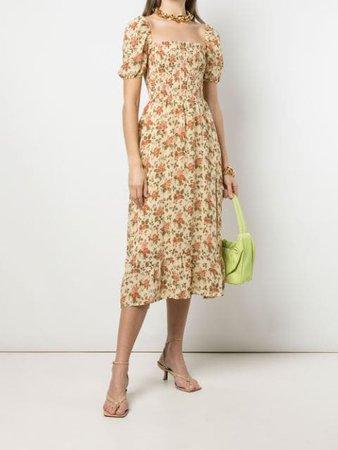 Reformation Meadow floral-print Midi Dress - Farfetch