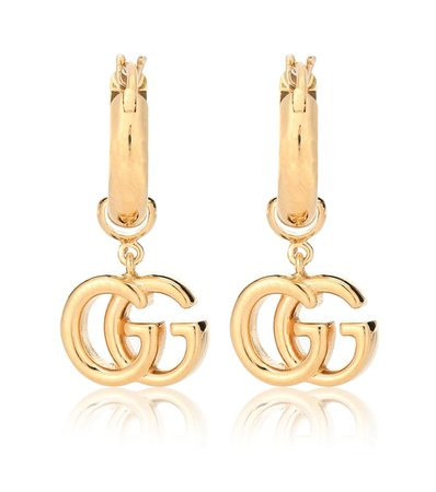 Gucci - GG 18-karat gold earrings | Mytheresa