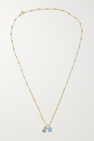 Wwake | Token 14-karat gold opal necklace | NET-A-PORTER.COM