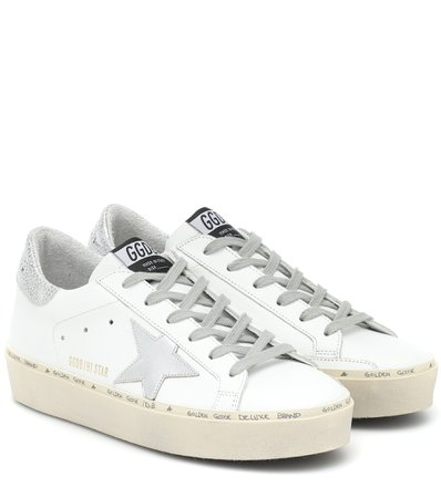 Golden Goose - Hi Star leather sneakers | Mytheresa