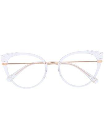 Dolce & Gabbana Eyewear Cat Eye Glasses - Farfetch